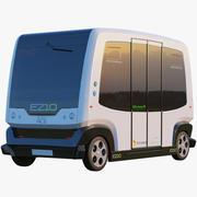 EZ10 Водитель меньше автобус белый 3d model