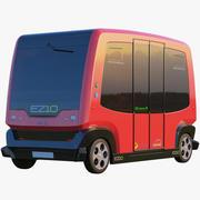 EZ10 меньше водителя автобуса Красный 3d model