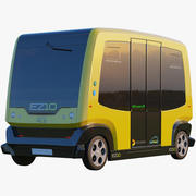 3D EZ10 Водитель меньше Шаттл Желтый 3d model