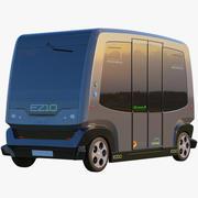 3D EZ10 Водитель меньше Автобус серый 3d model