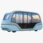 Sürücüsüz Elektrikli Otobüs Bölmesi 3d model