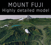 Monte Fuji 3d model