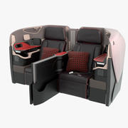 Singapore Airlines Business Seat Midden 3d model