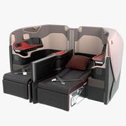 シンガポール航空ビジネスシートリクライニングミドル 3d model
