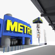 Metro Cash & Carry Hypermarket Full 3d model