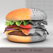 3D Burger 01 3d model