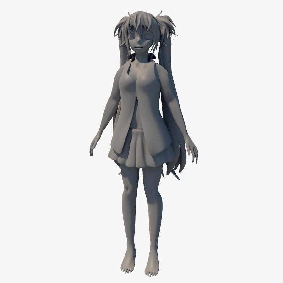 青木Hagane royalty-free 3d model - Preview no. 11