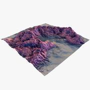 Deserto e rocha vermelhos 3d model