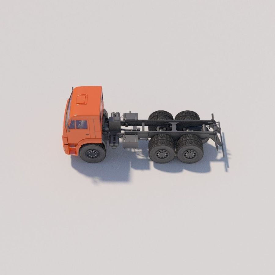 Ходовая часть - КАМАЗ-43118-3078-46 royalty-free 3d model - Preview no. 5