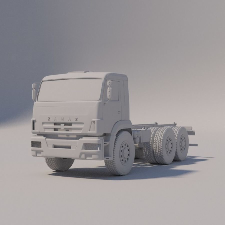 Ходовая часть - КАМАЗ-43118-3078-46 royalty-free 3d model - Preview no. 6