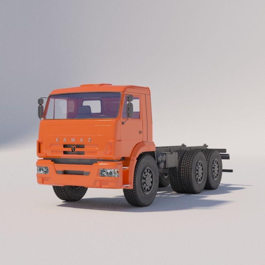 Ходовая часть - КАМАЗ-43118-3078-46 royalty-free 3d model - Preview no. 1