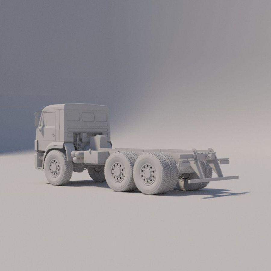 Ходовая часть - КАМАЗ-43118-3078-46 royalty-free 3d model - Preview no. 7