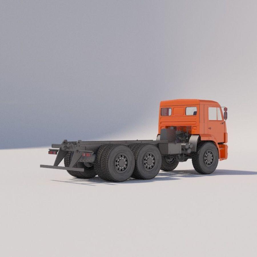 Ходовая часть - КАМАЗ-43118-3078-46 royalty-free 3d model - Preview no. 3
