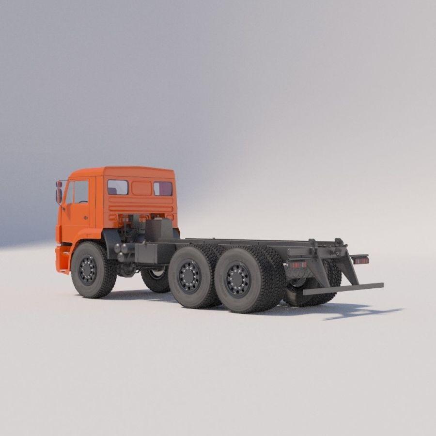 Ходовая часть - КАМАЗ-43118-3078-46 royalty-free 3d model - Preview no. 4