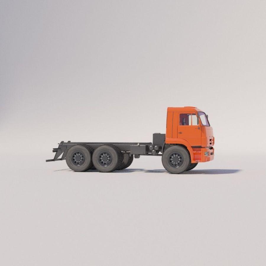 Ходовая часть - КАМАЗ-43118-3078-46 royalty-free 3d model - Preview no. 2