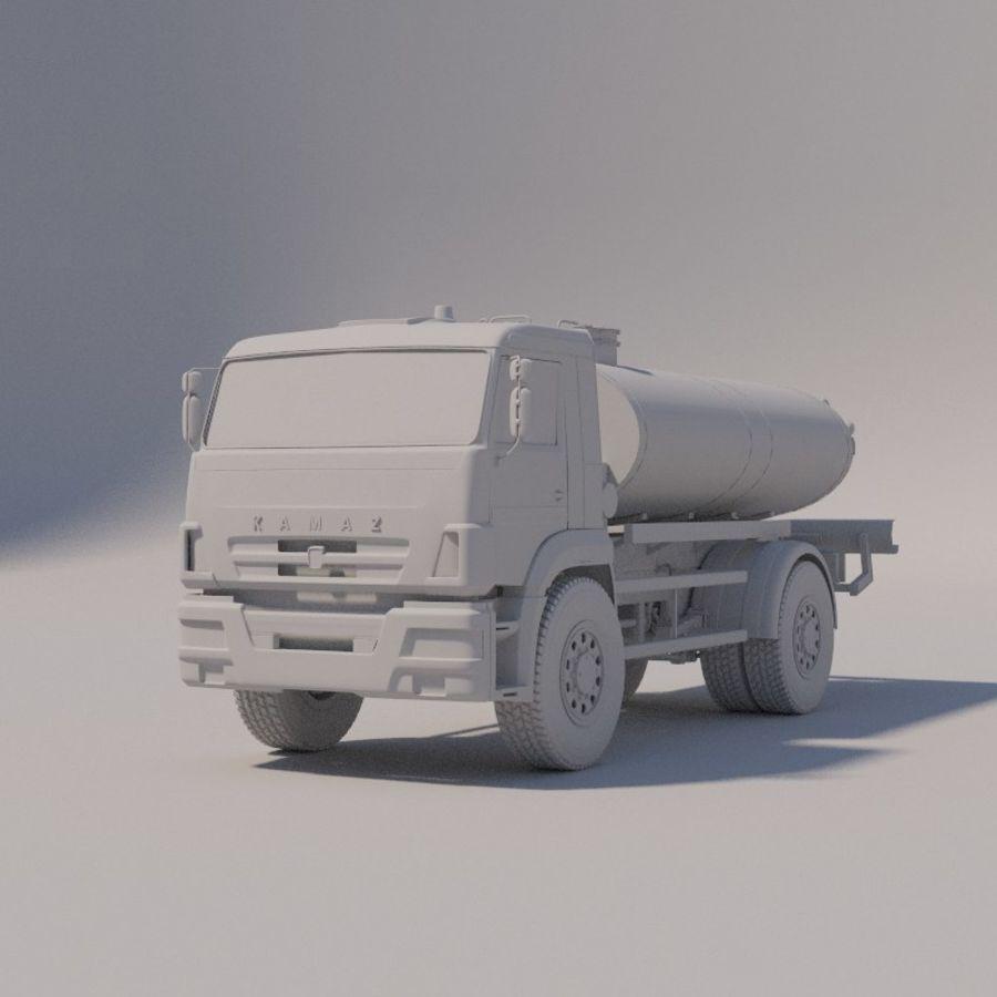 Автораспылитель КАМАЗ royalty-free 3d model - Preview no. 6