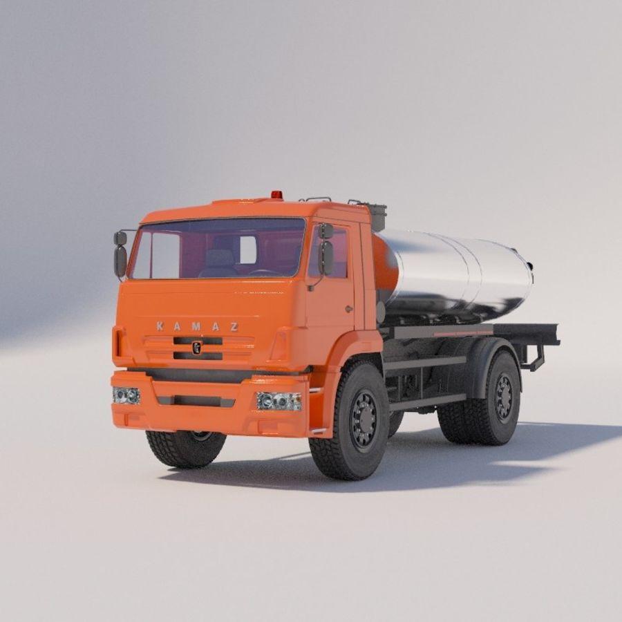 Автораспылитель КАМАЗ royalty-free 3d model - Preview no. 2