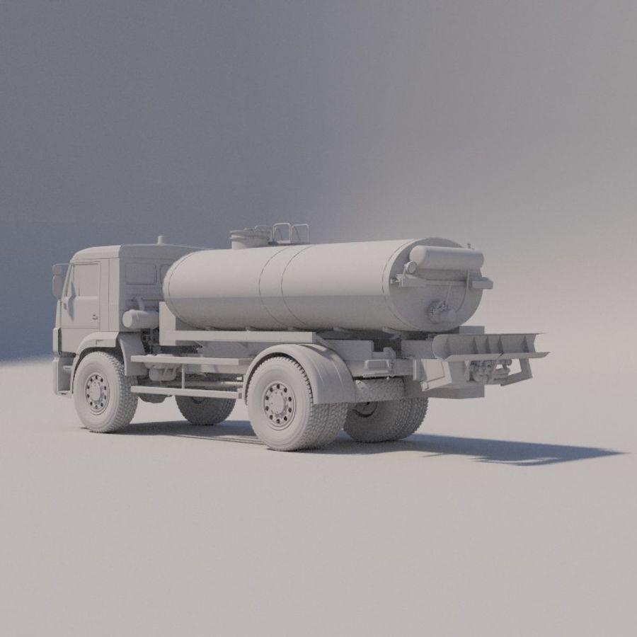 Автораспылитель КАМАЗ royalty-free 3d model - Preview no. 7
