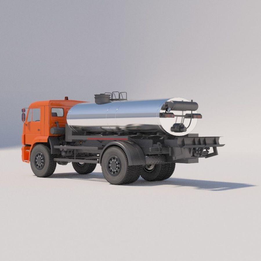 Автораспылитель КАМАЗ royalty-free 3d model - Preview no. 4