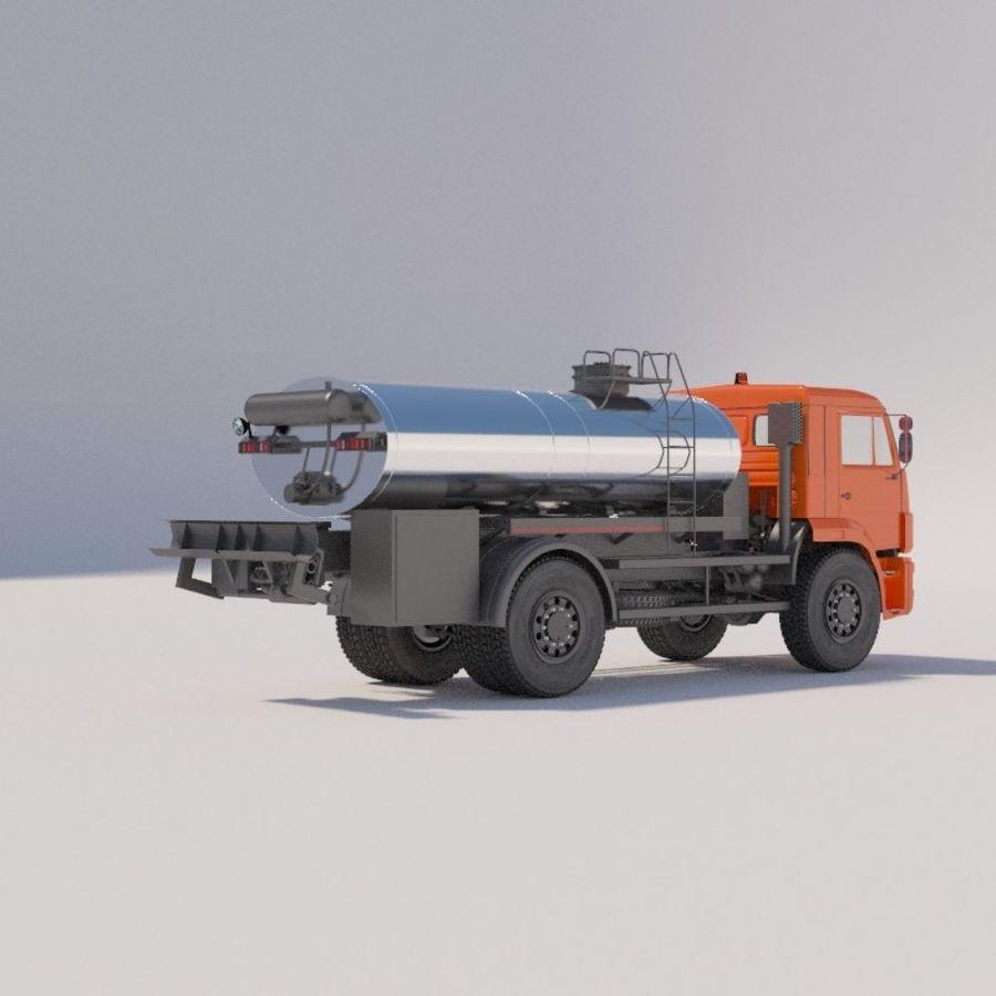 Автораспылитель КАМАЗ royalty-free 3d model - Preview no. 3