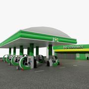 Gas Station BP Connect 3d model