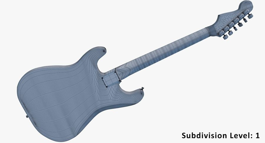 Electro Guitar royalty-free 3d model - Preview no. 20