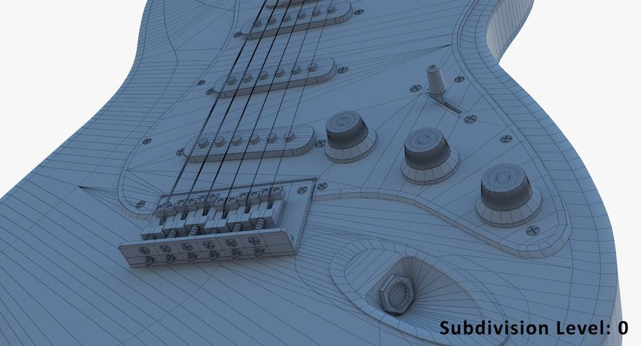 E-Gitarre royalty-free 3d model - Preview no. 13