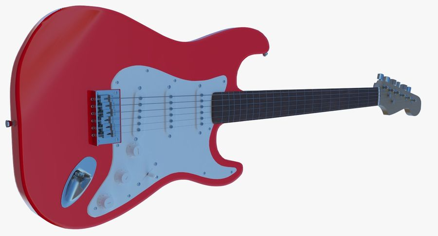 Electro Guitar royalty-free 3d model - Preview no. 9