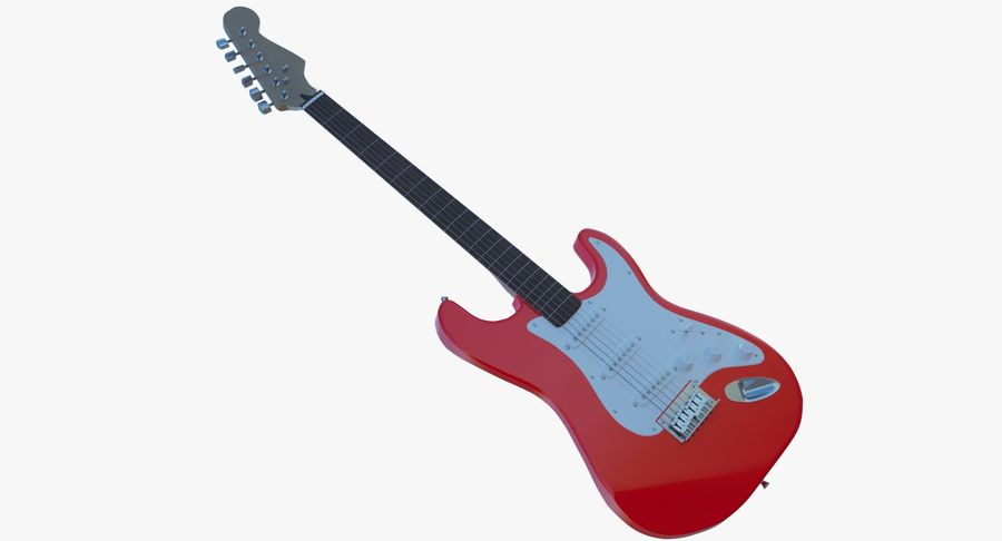 E-Gitarre royalty-free 3d model - Preview no. 3