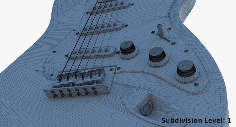 E-Gitarre royalty-free 3d model - Preview no. 14