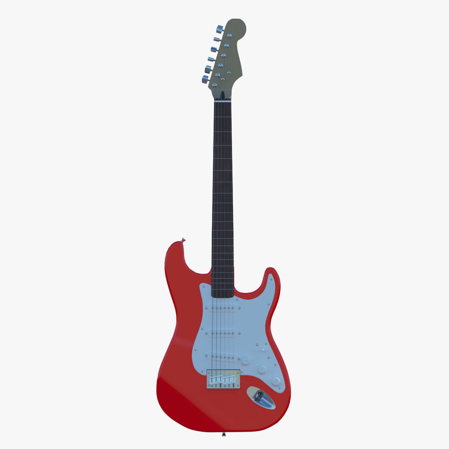 E-Gitarre royalty-free 3d model - Preview no. 1