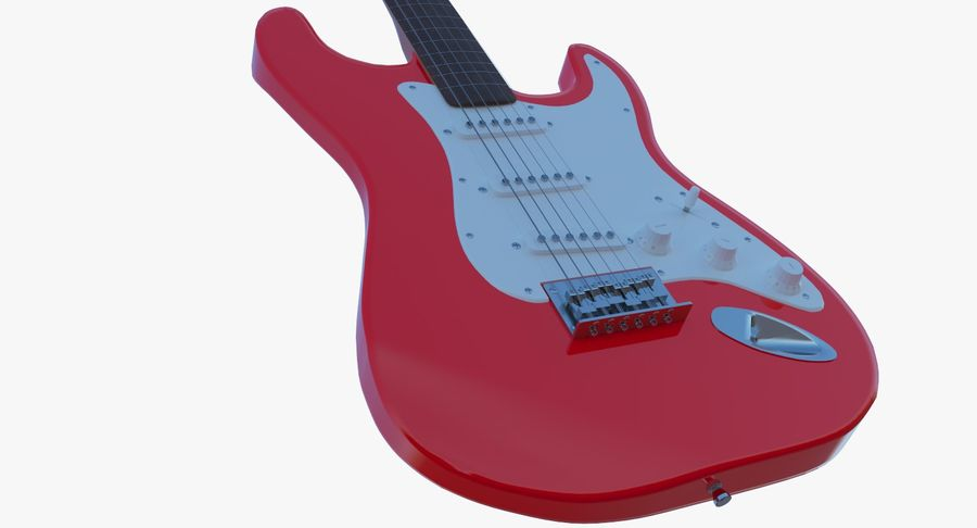 Electro Guitar royalty-free 3d model - Preview no. 6