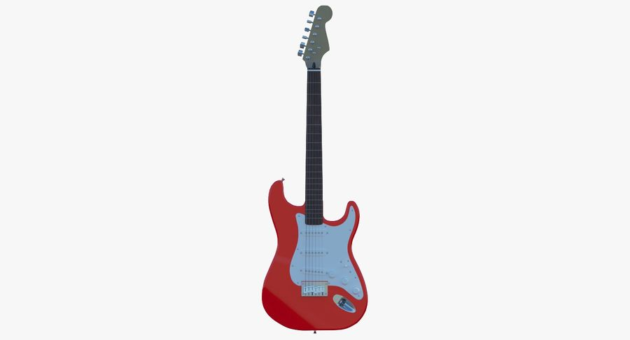 E-Gitarre royalty-free 3d model - Preview no. 2