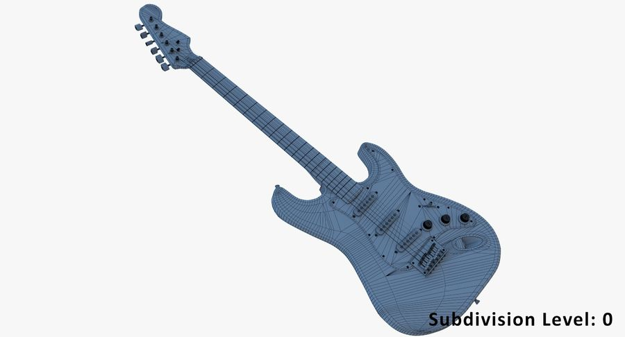 Electro Guitar royalty-free 3d model - Preview no. 4