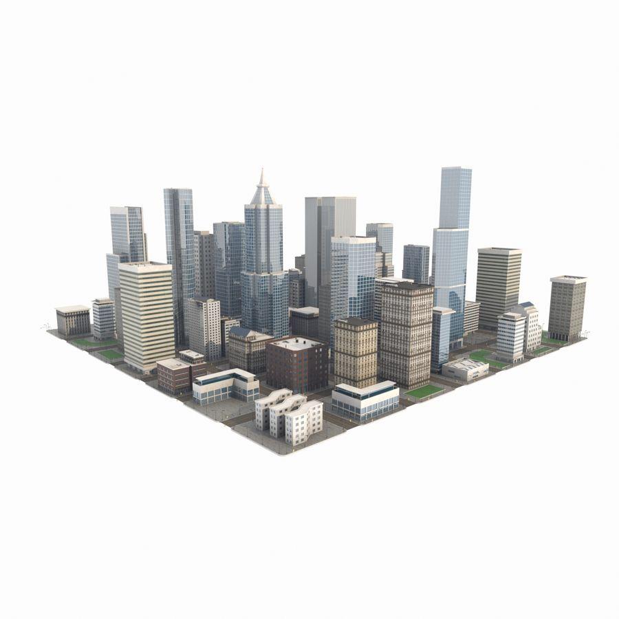 街並み royalty-free 3d model - Preview no. 1