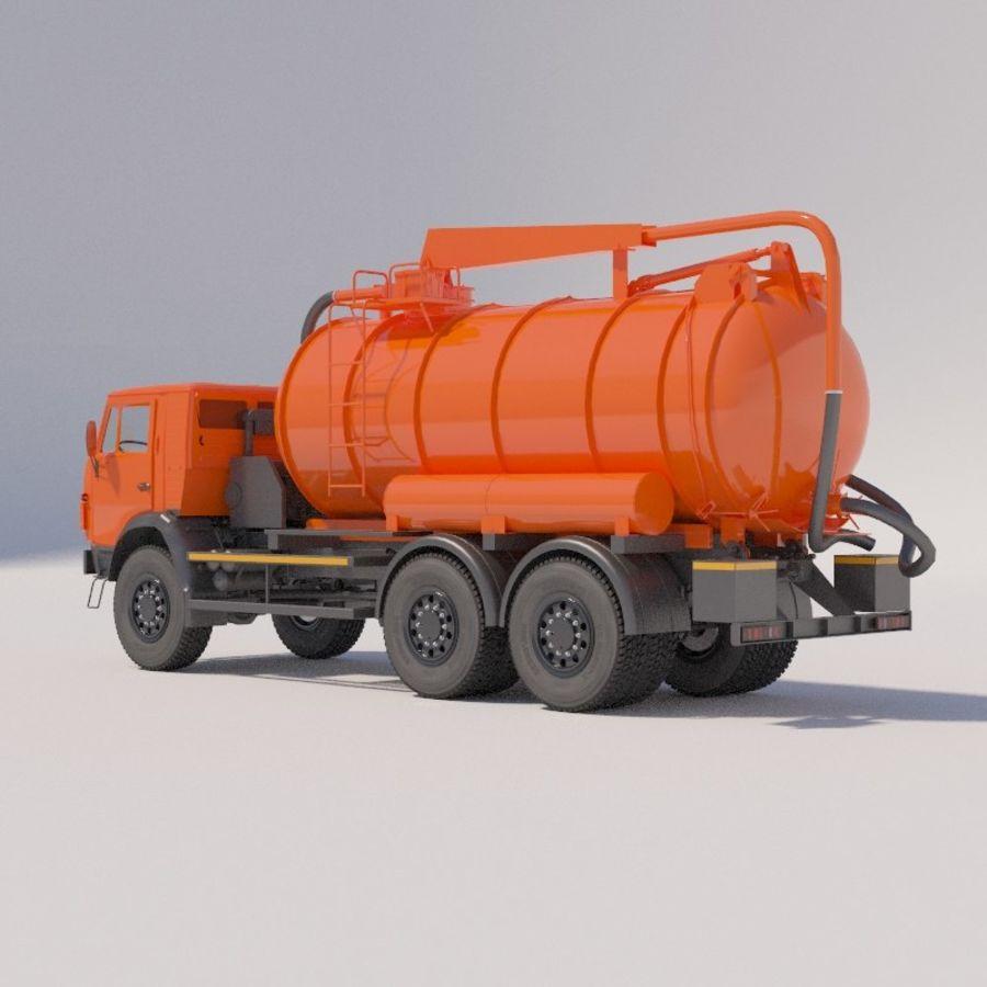 Канал мойки на шасси КамАЗ-5320 royalty-free 3d model - Preview no. 4