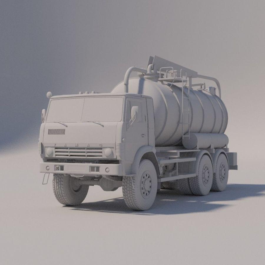 Канал мойки на шасси КамАЗ-5320 royalty-free 3d model - Preview no. 7