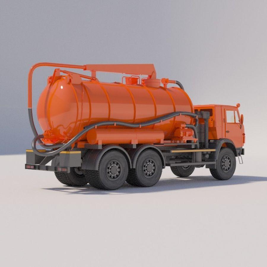 Канал мойки на шасси КамАЗ-5320 royalty-free 3d model - Preview no. 5
