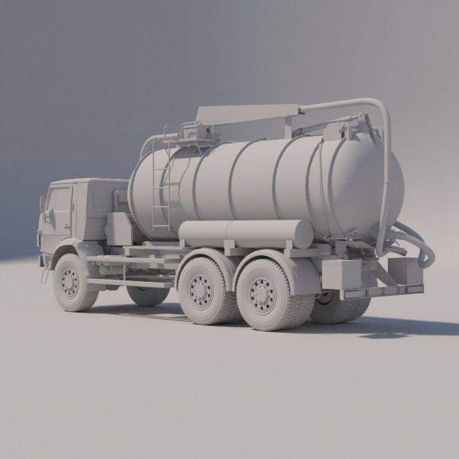 Канал мойки на шасси КамАЗ-5320 royalty-free 3d model - Preview no. 6