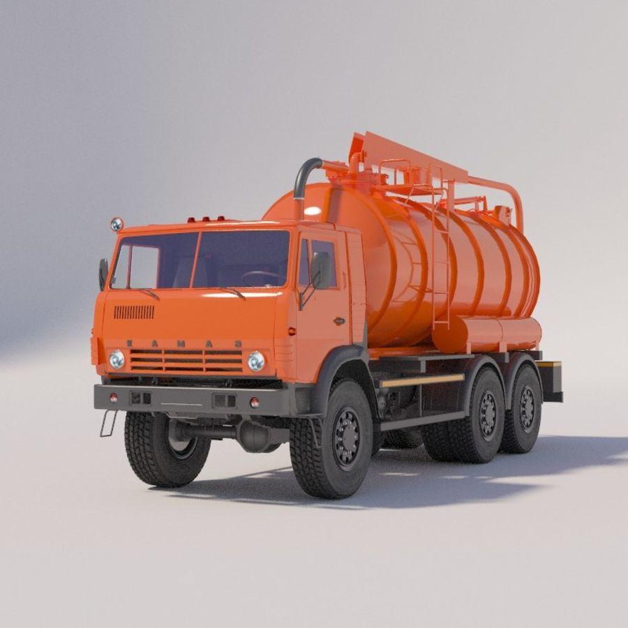 Канал мойки на шасси КамАЗ-5320 royalty-free 3d model - Preview no. 2