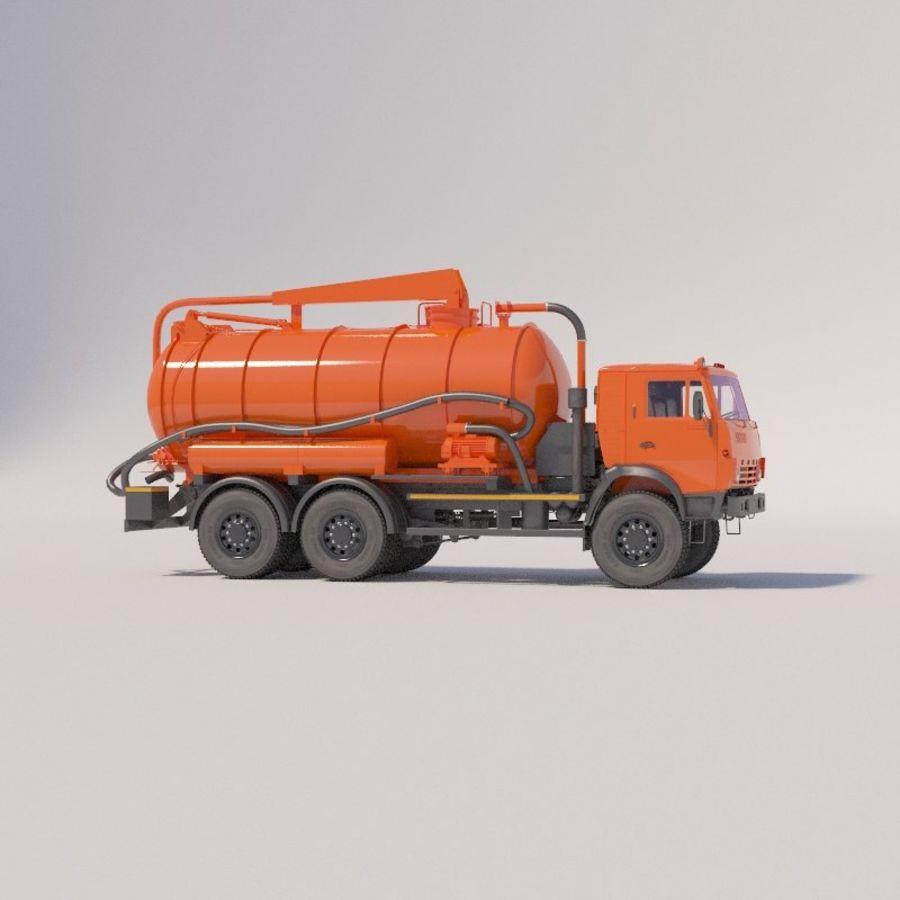 Канал мойки на шасси КамАЗ-5320 royalty-free 3d model - Preview no. 1