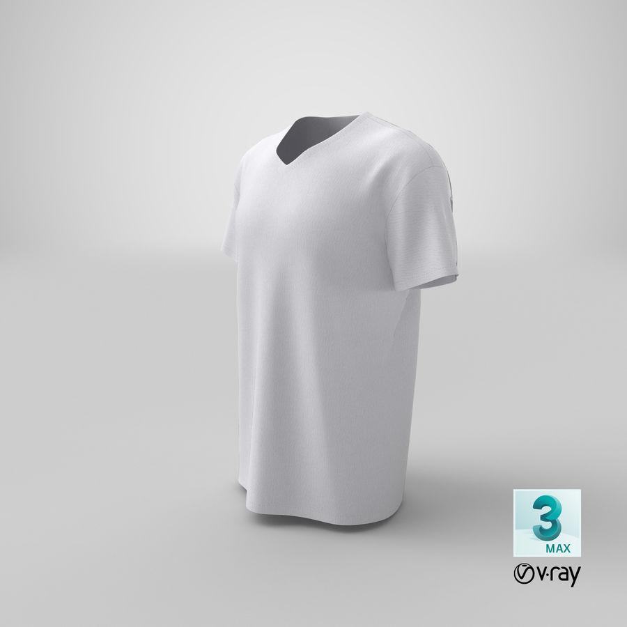 T-shirt męski, opadające ramię, kołnierz V z krótkim rękawem (1) royalty-free 3d model - Preview no. 23