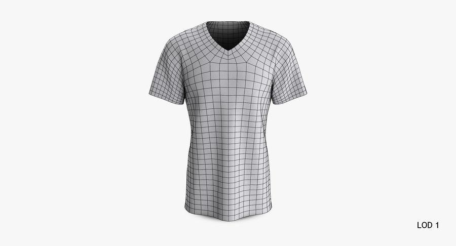 T-shirt męski, opadające ramię, kołnierz V z krótkim rękawem (1) royalty-free 3d model - Preview no. 16