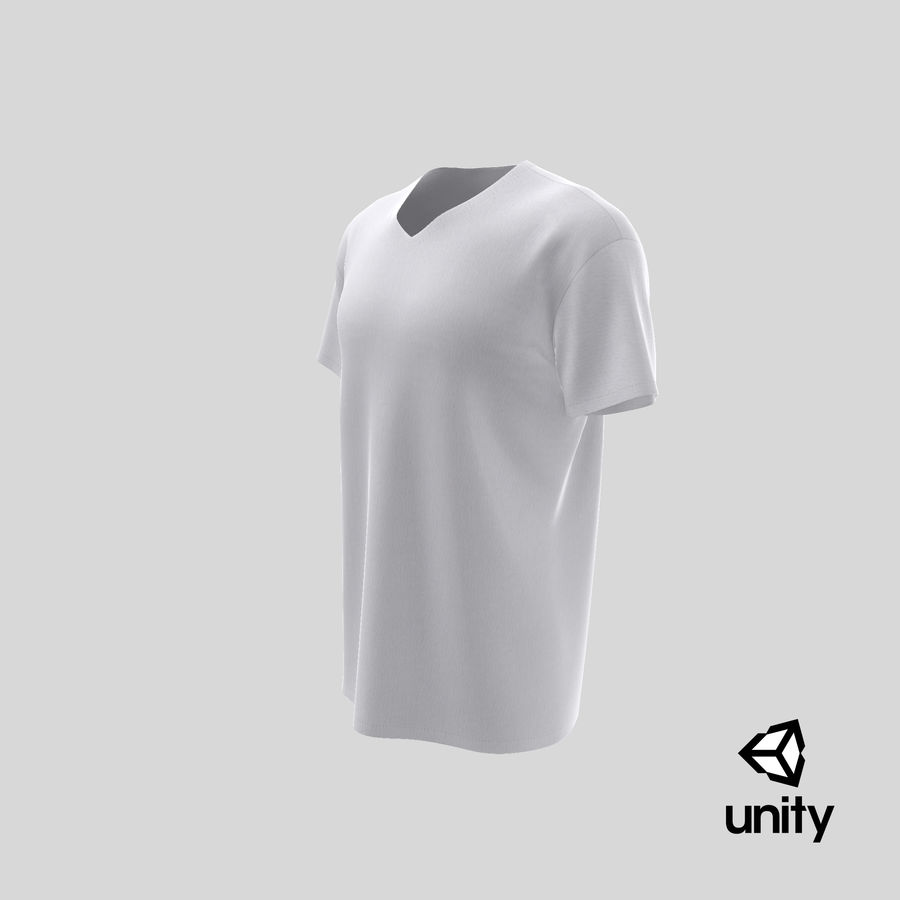 T-shirt męski, opadające ramię, kołnierz V z krótkim rękawem (1) royalty-free 3d model - Preview no. 27