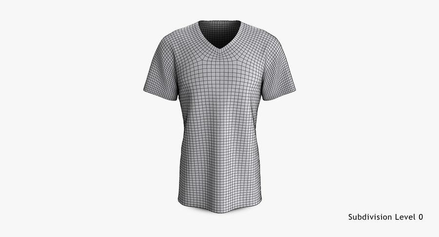 T-shirt męski, opadające ramię, kołnierz V z krótkim rękawem (1) royalty-free 3d model - Preview no. 14