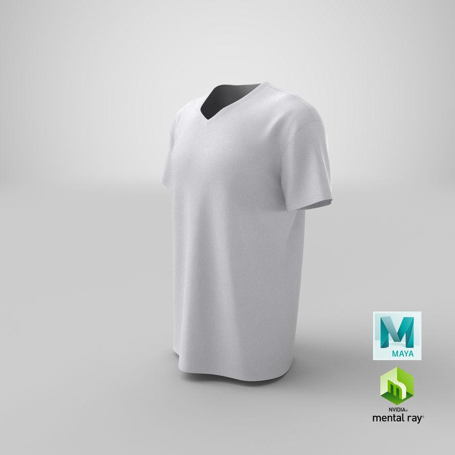 T-shirt męski, opadające ramię, kołnierz V z krótkim rękawem (1) royalty-free 3d model - Preview no. 22