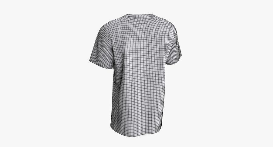 T-shirt męski, opadające ramię, kołnierz V z krótkim rękawem (1) royalty-free 3d model - Preview no. 12