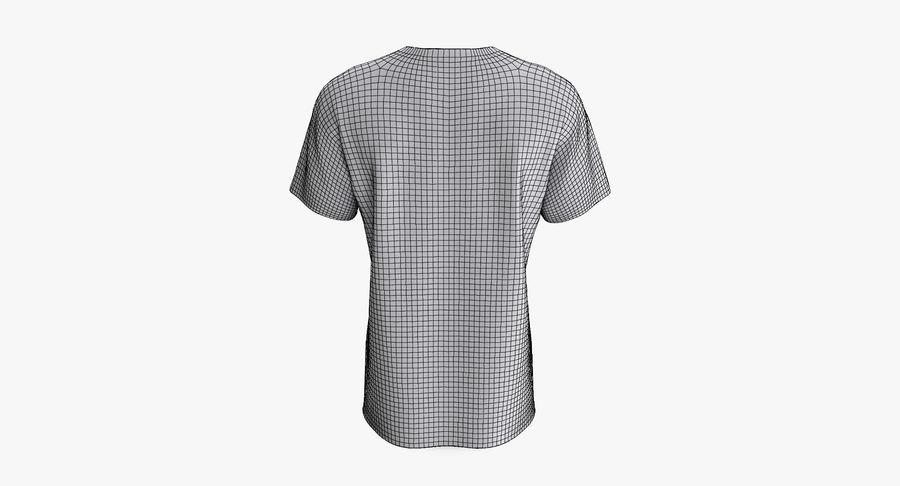 T-shirt męski, opadające ramię, kołnierz V z krótkim rękawem (1) royalty-free 3d model - Preview no. 11