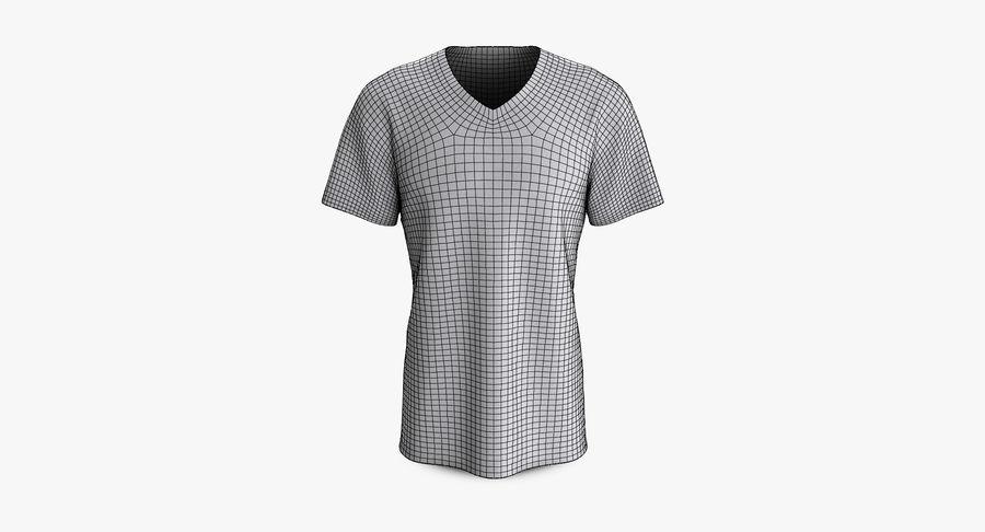 T-shirt męski, opadające ramię, kołnierz V z krótkim rękawem (1) royalty-free 3d model - Preview no. 8