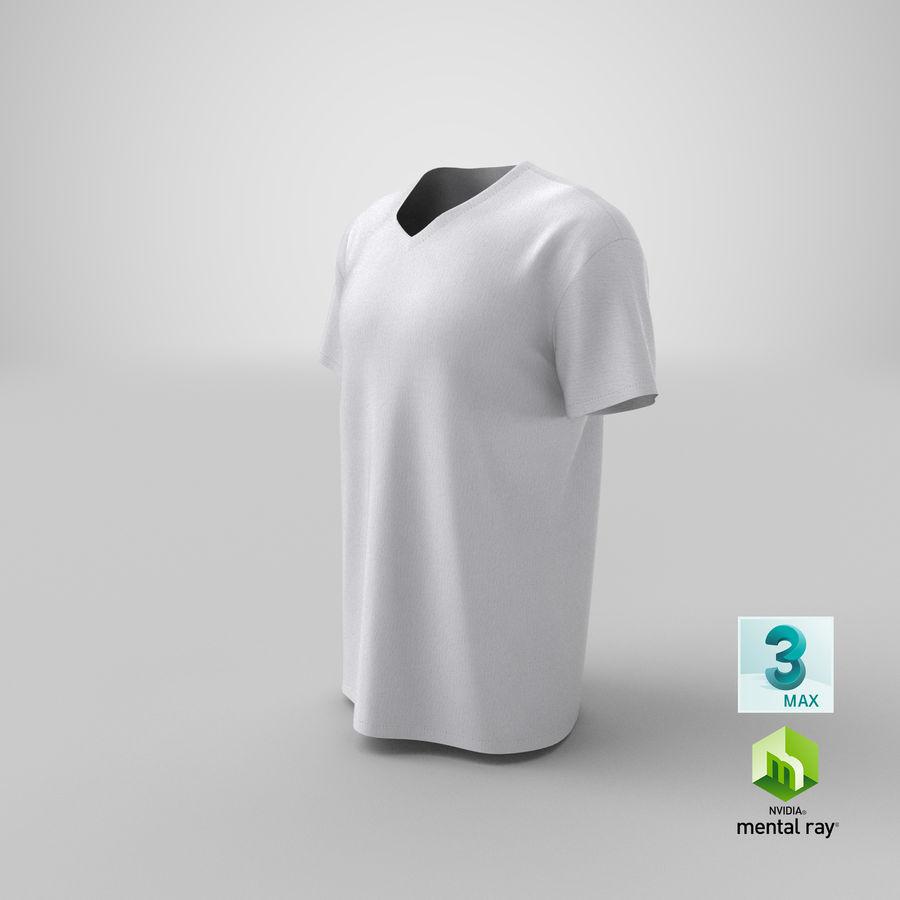 T-shirt męski, opadające ramię, kołnierz V z krótkim rękawem (1) royalty-free 3d model - Preview no. 24